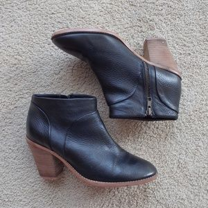 Joe Fresh Genuine Leather Stacked Heel Ankle Boot